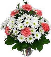 Bouquet with carnations, daisies and asters