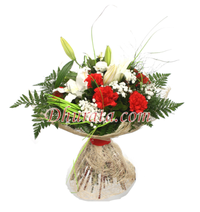 Mix bouquet with carnations and lilies