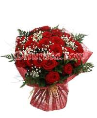 Bouquet with 24 red roses