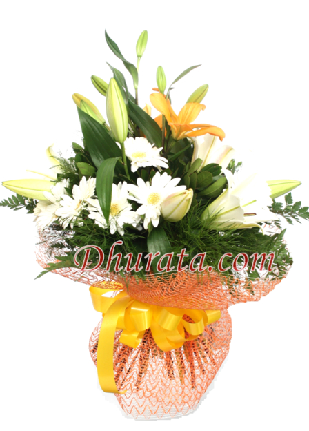 Bouquet of Gerbera and Lilies