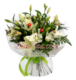 Bouquet of 6 Lilies