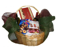 Basket with 2 bottle of Wine and Chocolates