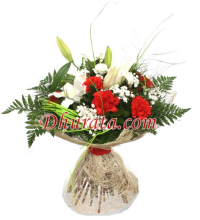 Mixed bouquet with Carnations and Lilies