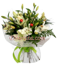 Bouquet with 7 lilies