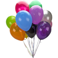 10 colorful balloons