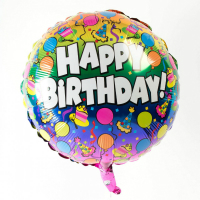Foil paper balloon - Happy Birthday