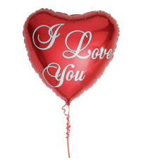 Foil paper  balloon -  I Love You