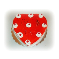 Cherrie Cake in the shape of a heart
